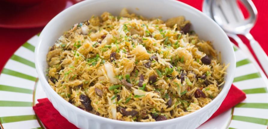 Salada crocante de bacalhau